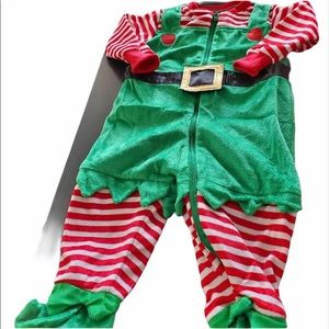 Christmas Elf Costume Onesie with hat 6-9 Months